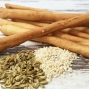 Bread sticks with fennel and white sesame